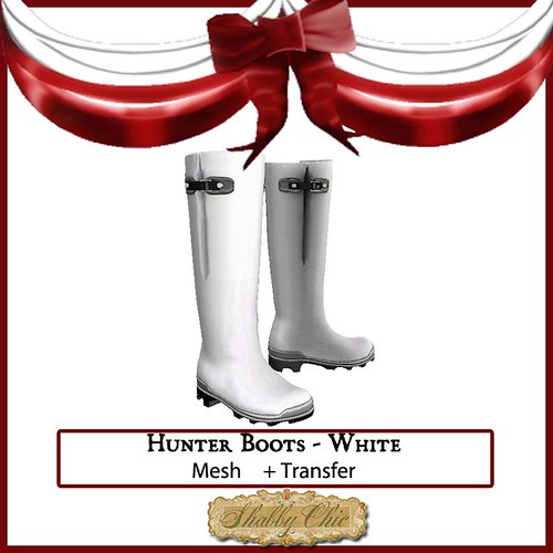 Shabby Chic White Hunter Boots by Shabby Chics