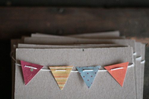 diy bunting invitations