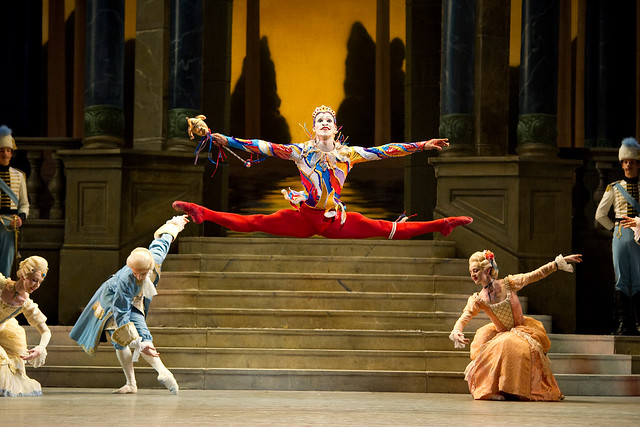 Fernando Montaño as the Jester in Cinderella © ROH / Tristram Kenton 2010