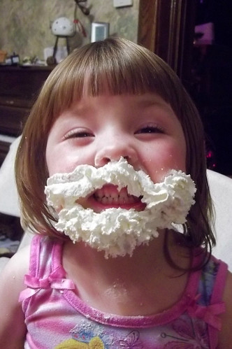 Whipped cream Santa beard