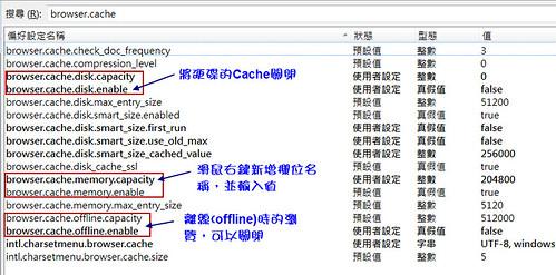Firefox 關於 Cache 的設定