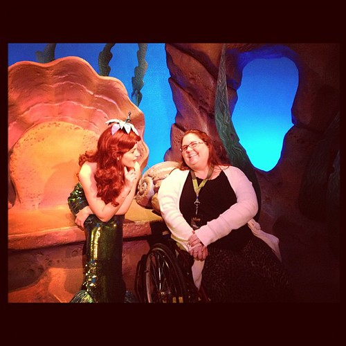 The Little Mermaid and I just chatting about dinglehoppers #newfantasyland