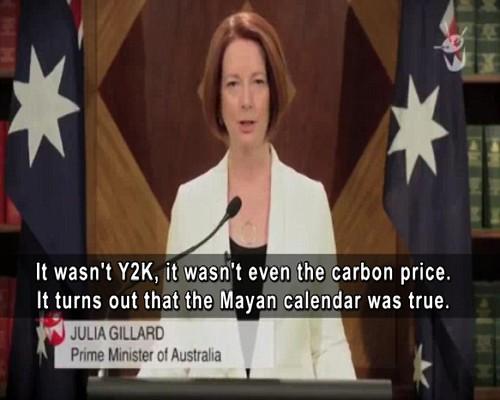 澳洲總理宣告世界末日