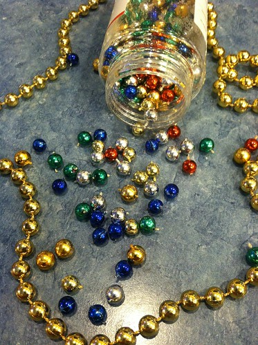 beads for tree and spool ornaments