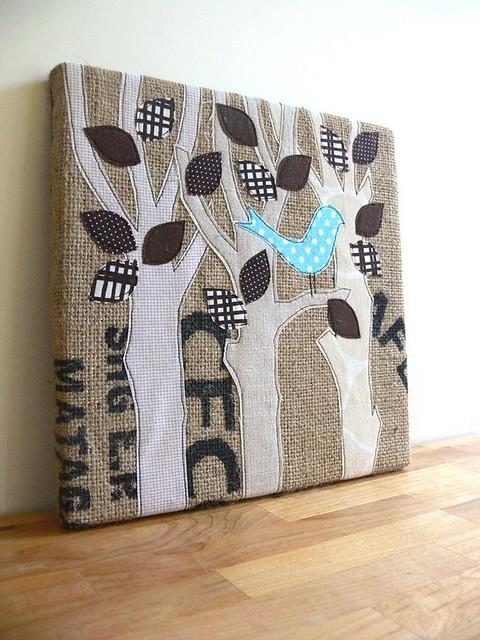 Jenny Bartoy: Burlap Art