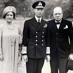 Emperor George VI & Empress Elizabeth of India with Winston Churchill