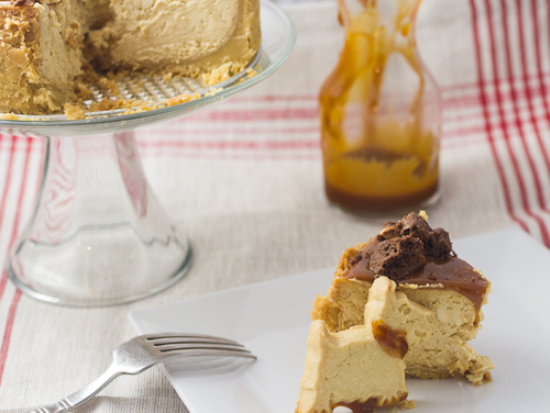Caramel Cheesecake - The Girl In The Little Red Kitchen