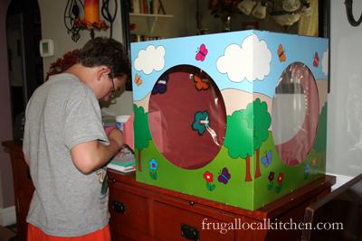 kids gardening gift: raising butterflies