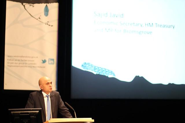 Sajid Javid Economic Secretary to the Treasury and MP for Bromsgrove speaking at #allchange12