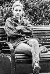 Girl on a Park Bench