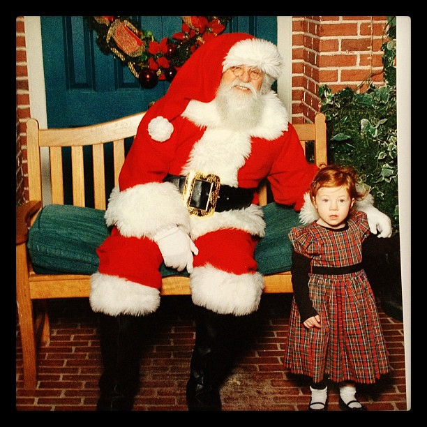 The year before wasn't much better. She looks so scared!   #santa #terror #christmas