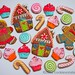 Candy themed Gingerbread cookies ©Cookievonster2012 by Cookievonster