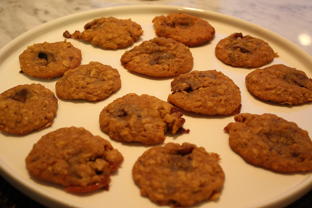 Chewy Pumpkin, Caramel & Chocolate Cookies