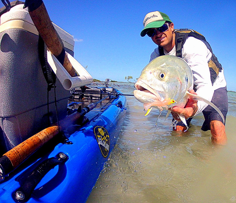 Drew Gregory with a nice 10lb jack caught from the Jackson Kayak SUPerFISHal