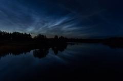 Noctilucent clouds & Oulujoki river