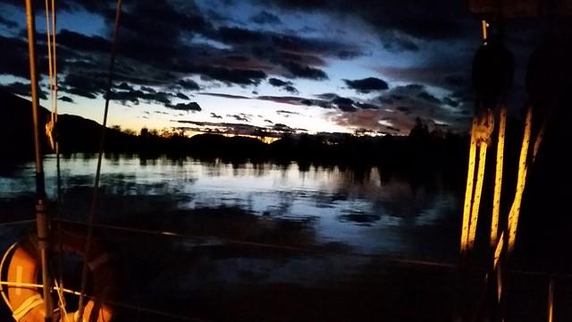 Grid late sunset