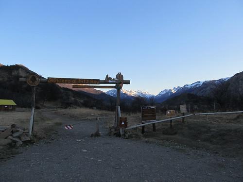 El Chaltén: départ du trek de la Laguna de los Tres