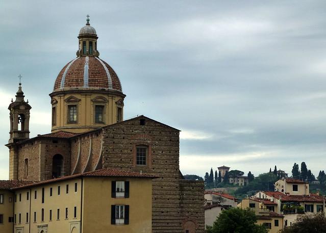Florence - jour 4 - 006 - Lungarno - Santa Maria del Carmine (Cappella Brancacci)