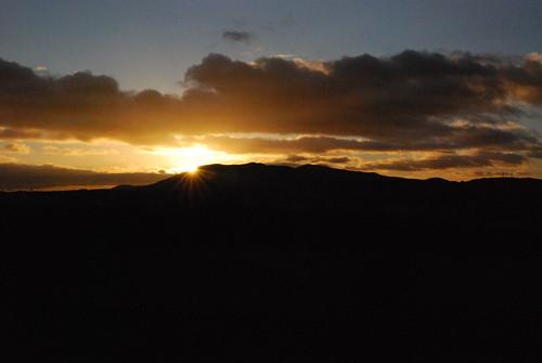 Pentland sunset