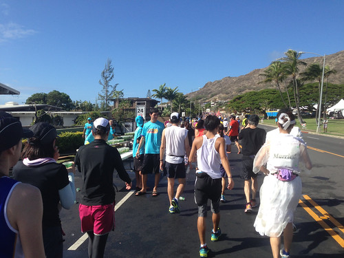 Honolulu Marathon 2012: Aid Station Near the 24-mile Mark