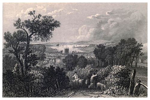001-Vista de Newport desde el Sur- Barber's picturesque guide to the Isle of Wight (1850)