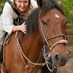 Audrey and her Horse - Morgan's Rock, Nicaragua