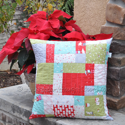 Christmas Pillow outdoors