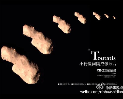 Chang'e 2 Toutatis flyby