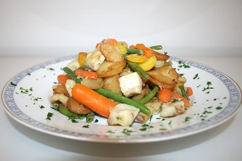 08 - Frosta Bratfkartoffel Fisch Pfanne / Frosta potato fish fry - CloseUp