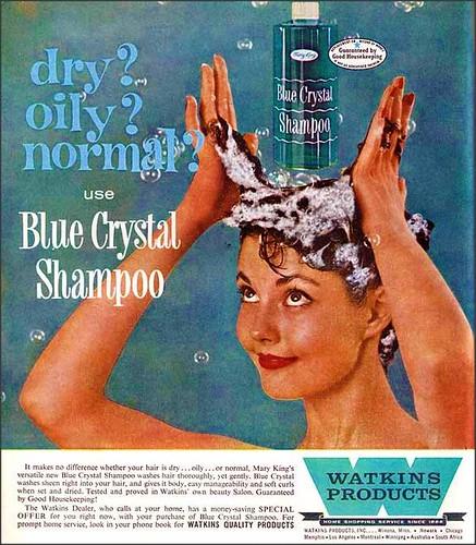 Watkins Blue Crystal Shampoo 1960s