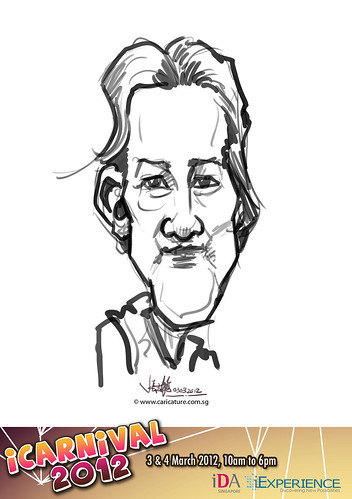 digital live caricature for iCarnival 2012  (IDA) - Day 1 - 18