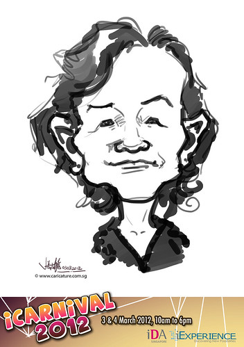 digital live caricature for iCarnival 2012  (IDA) - Day 1 - 73
