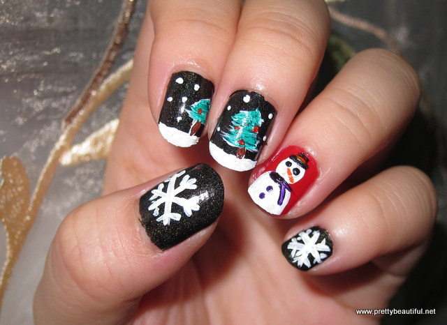 Christmas Nail Art: The night before christmas