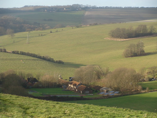 St Mary's farm, Falmer by Brighton Pensioner