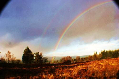 Double Rainbow at Sherriffmuir Battlefield, Scotland