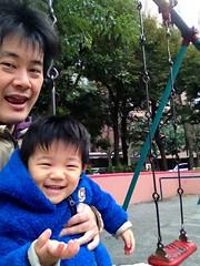 恵比寿公園でブランコ 2012/12/23