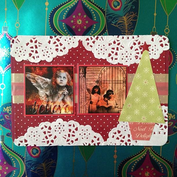 #angel #tree #doyle #postcard #snailmail #christmas