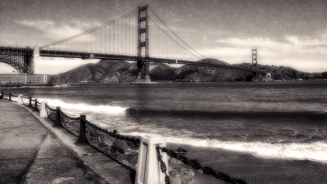 Golden Gate From Fort Point Drive