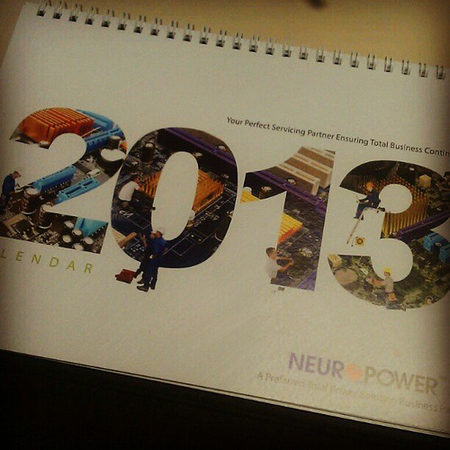 Semakin hampir dengan Tahun 2013! #newyear #calendar #snap #workstation