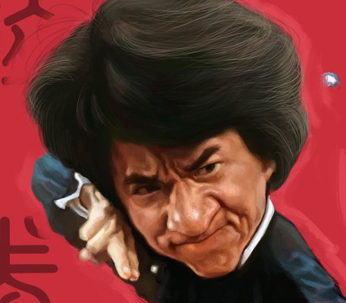 digital caricature sketch of Jackie Chan Drunken Master - 4