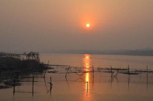 china sunset jiangsu zhenjiang dantu