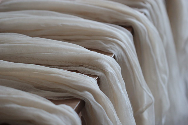 undyed cotton gauze scarves