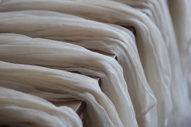 undyed cotton gauze scarves