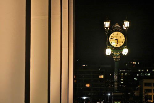 New Home for Historic Carroll's Clock by Seattle Daily Photo