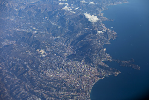 Nice and Monaco view from the plane