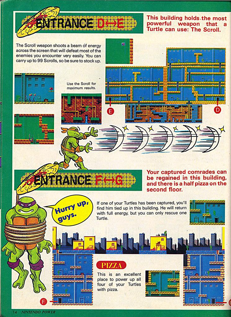 "NINTENDO POWER ::  MAY/JUNE 1989 // Vx p.14 "" TEENAGE MUTANT NINJA TURTLES "" { original review } by tOkKa"