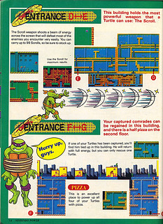 "NINTENDO POWER ::  MAY/JUNE 1989 // Vx p.14 "" TEENAGE MUTANT NINJA TURTLES "" { original review }"