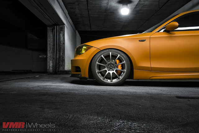 Eddie Chan S Matte Orange 135i On 18 V701 Gunmetal Vmr