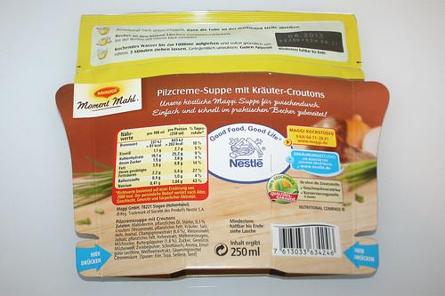 02 - Maggi Moment Mahl Pilzcremesuppe mit Kräuter-Croutons - Packung Hinten