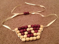 Wooden Bead Bib Necklace - Step 4